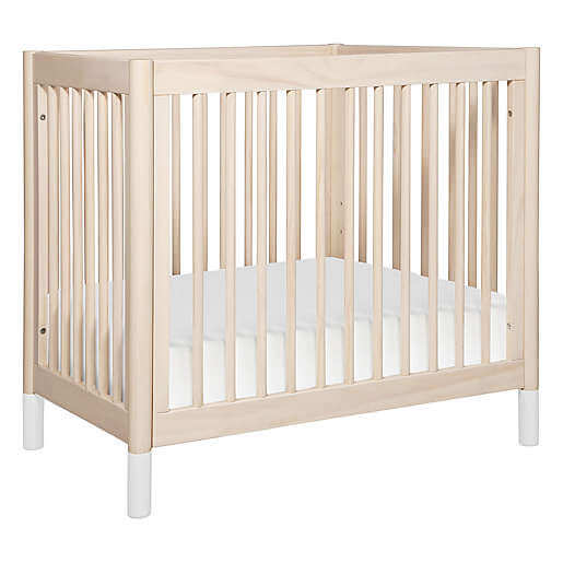 Babyletto Gelato Mini Crib in pine with white legs