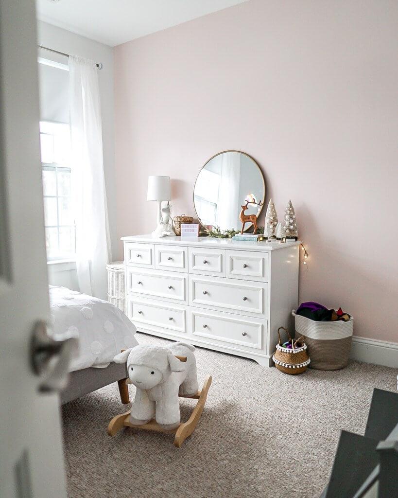 pink nursery with Behr Stolen Kiss