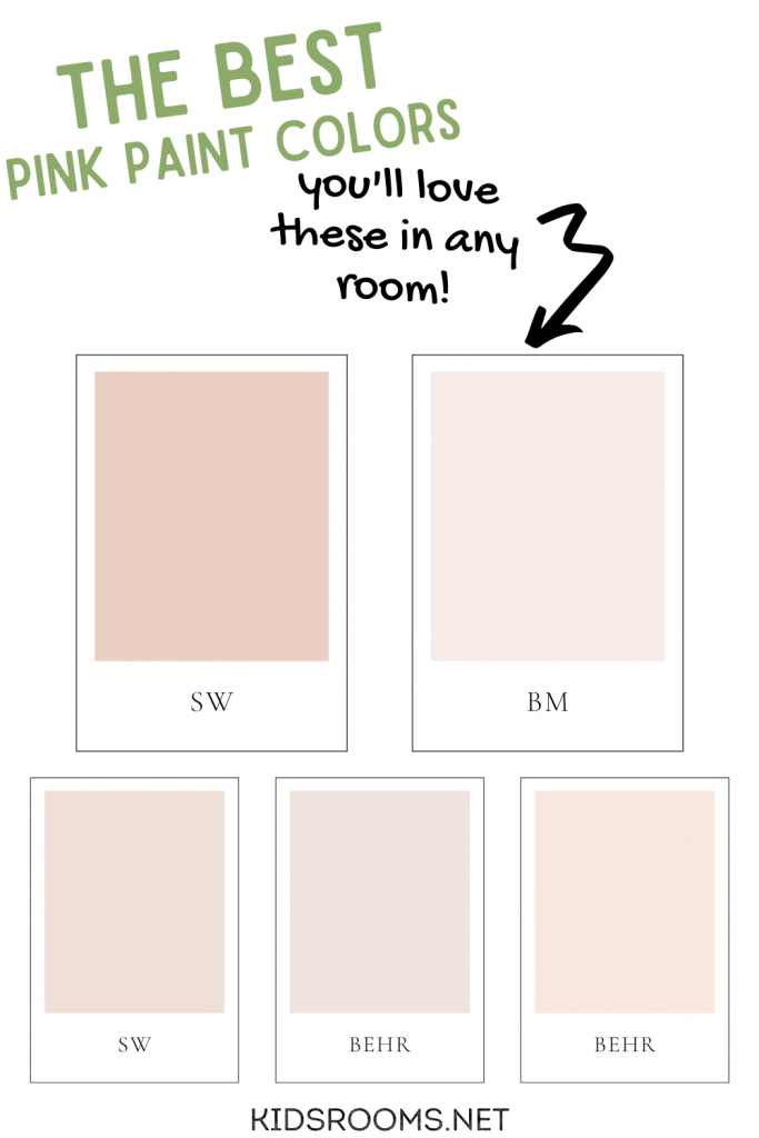 the best pink paint colors to use in any room graphic