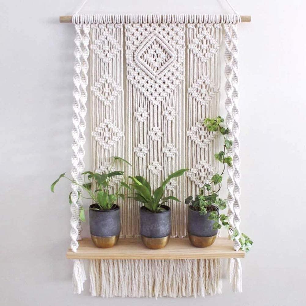 macrame wall hanging plant holder