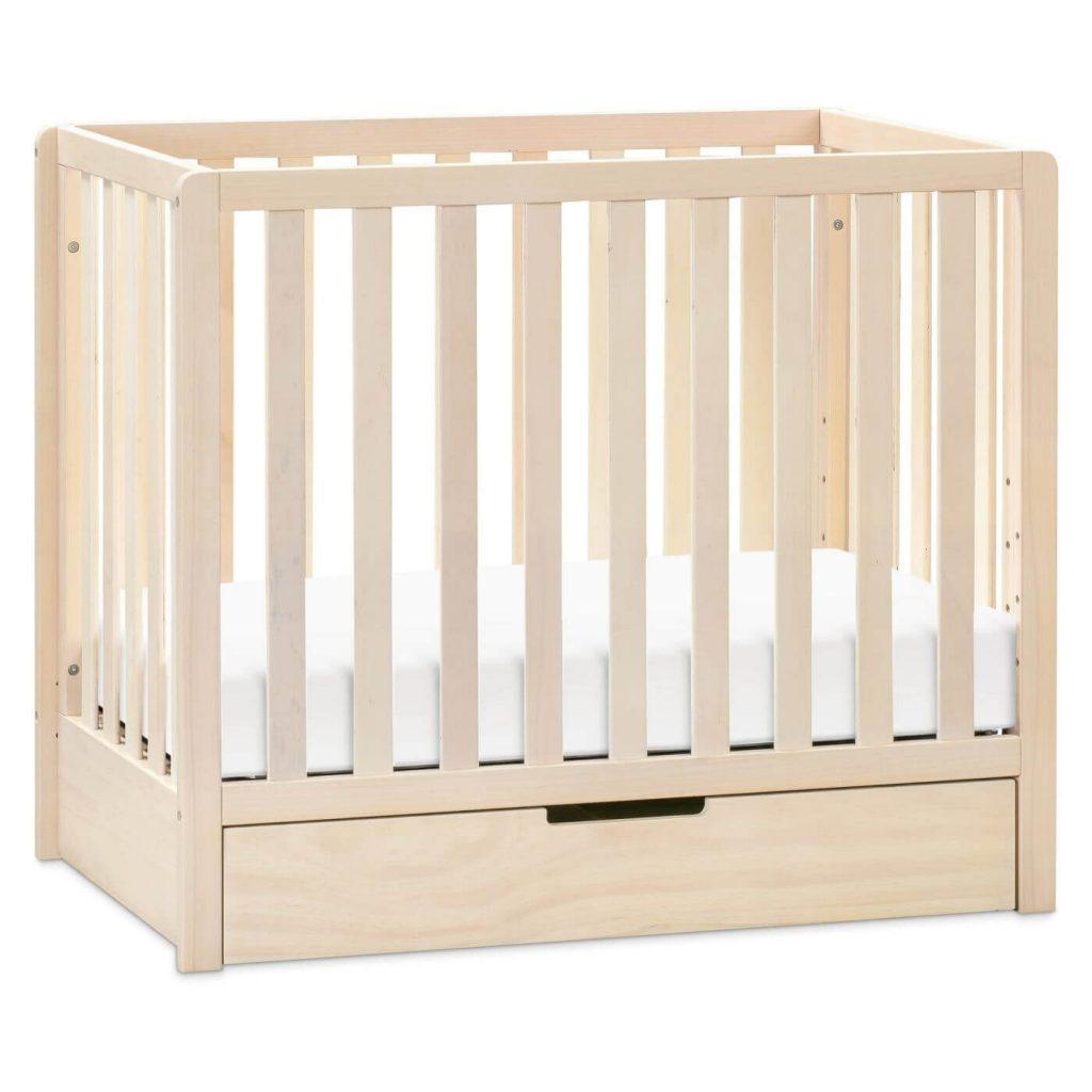 wood crib with trundle storage drawer