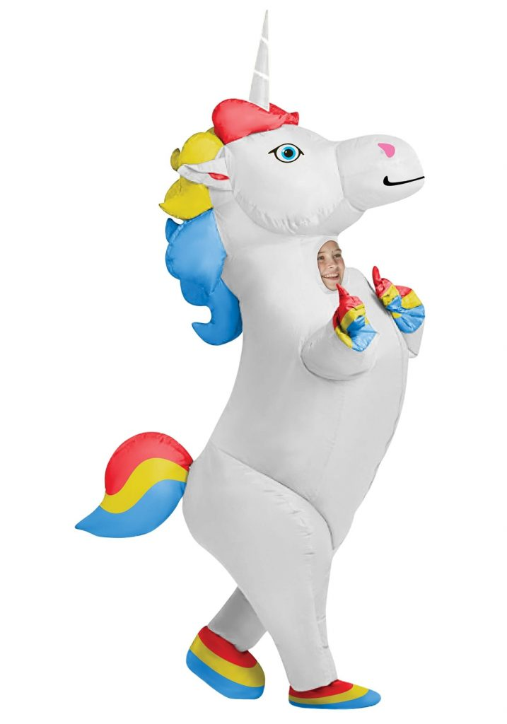 Child Inflatable Unicorn Costume Girls Boys