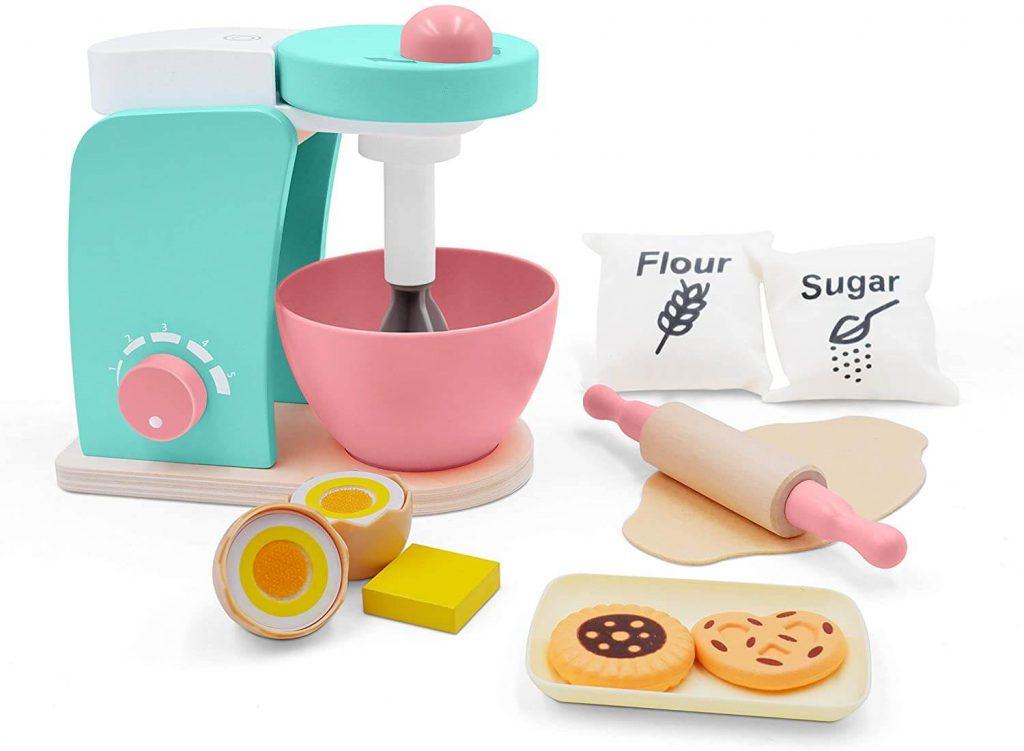 Wooden Toy Bake-Cookie Mixer Set