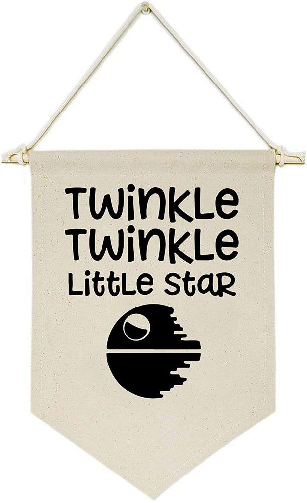twinkle twinkle little star pendant with death star