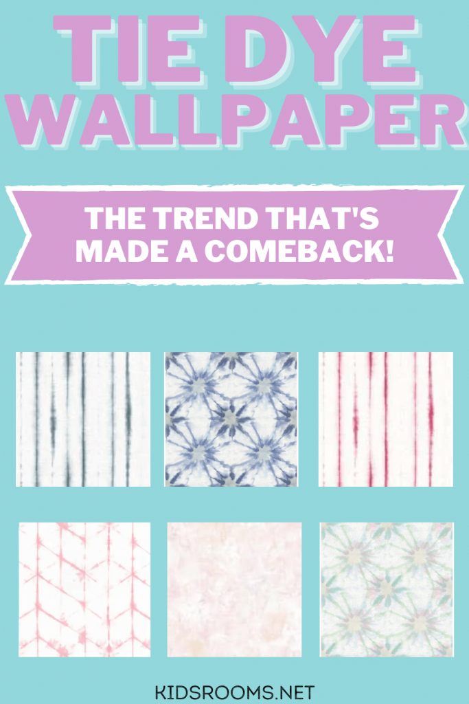 Tie Dye Wallpaper - the trend that's made a comeback pin