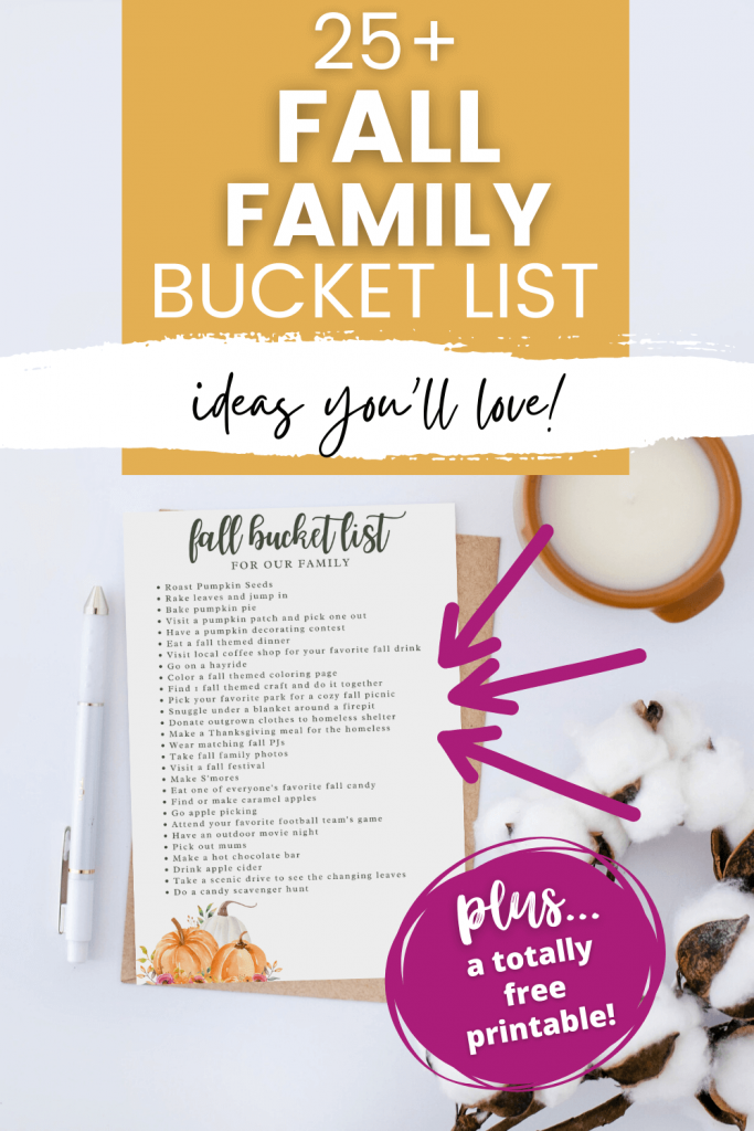 fall family bucket list that you'll love graphic pin