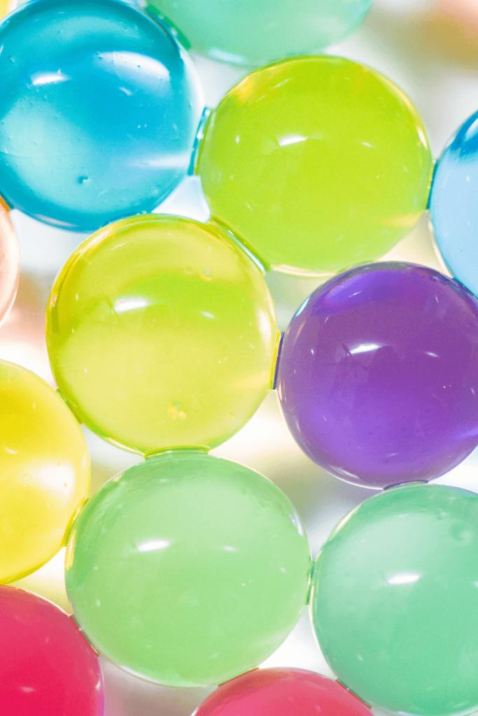 orbeez water beads closeup