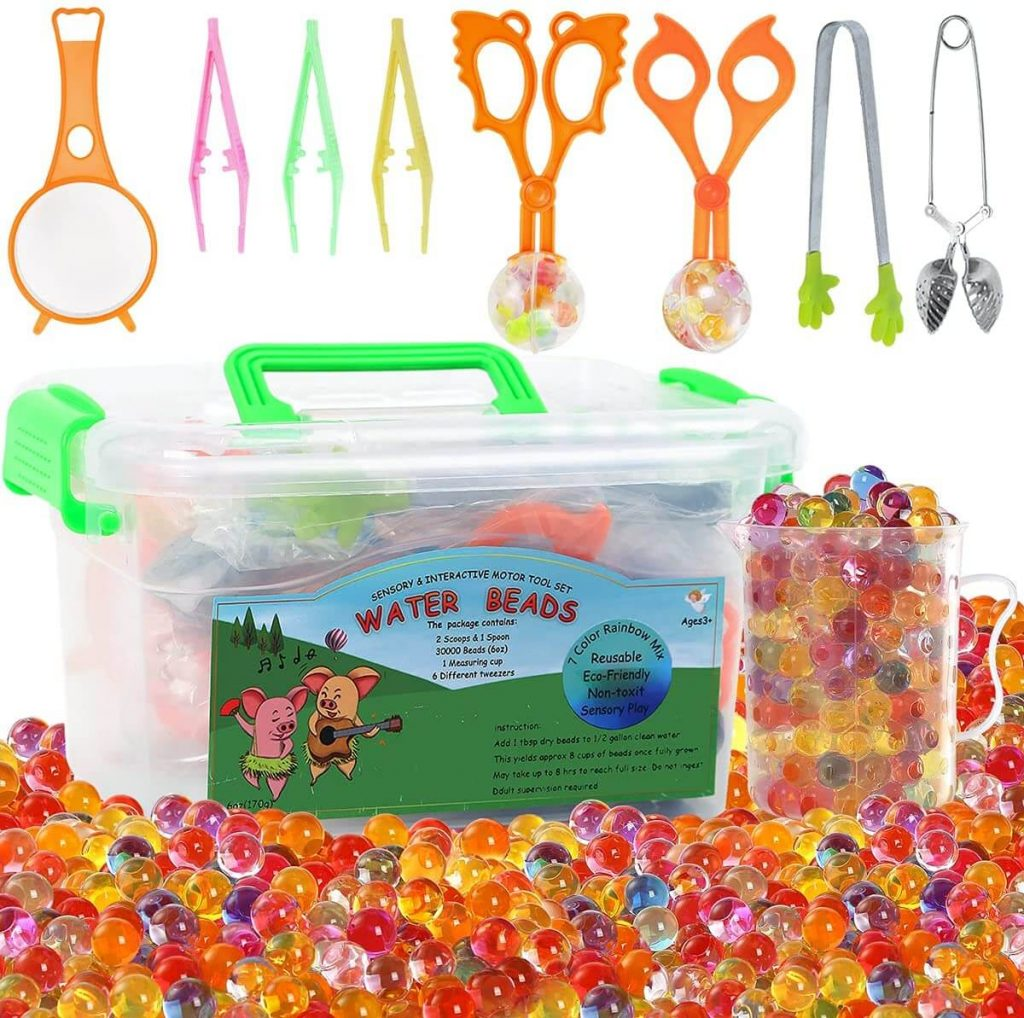 MAGICLUB Water Beads with Fine Motor Skills Toy Set