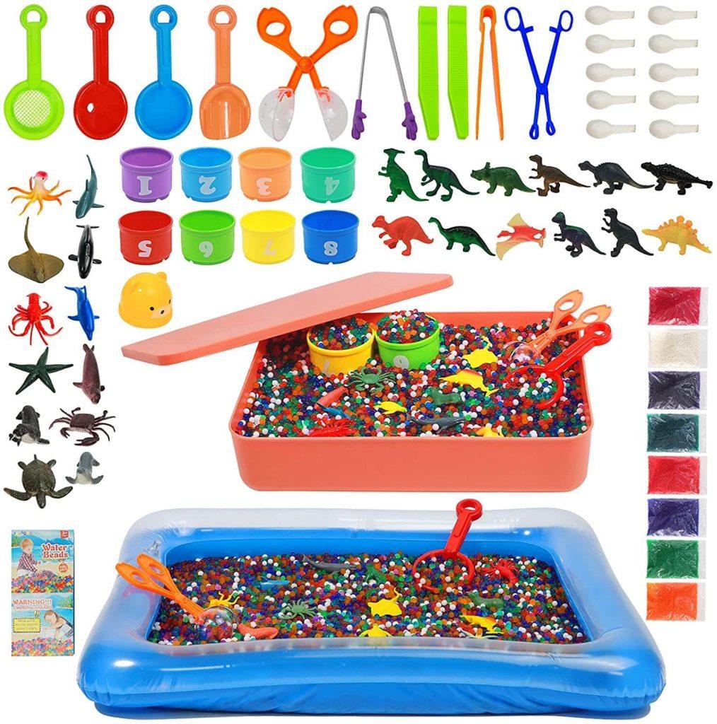 61 Piece Water Beads Sensory Toys Kit
